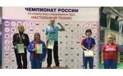 Чемпионат России по паралимпийскому настольному теннису прошел в городах Алексин и Чебоксары.